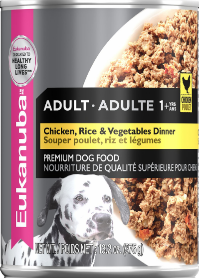 Eukanuba Adult Chicken Rice Vegetables Dinner Formula Canned Dog Food 13 2 oz case of 12 Chewy com