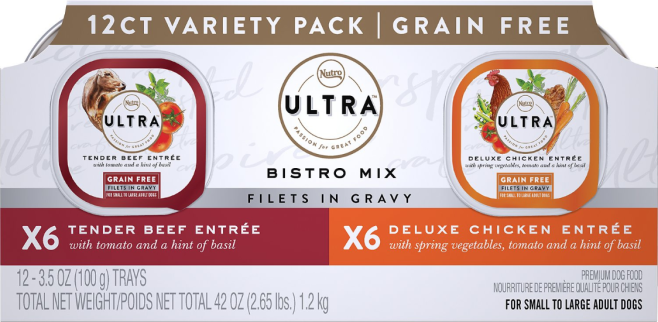 Nutro Ultra Bistro Mix Variety Pack Grain-Free Adult ...